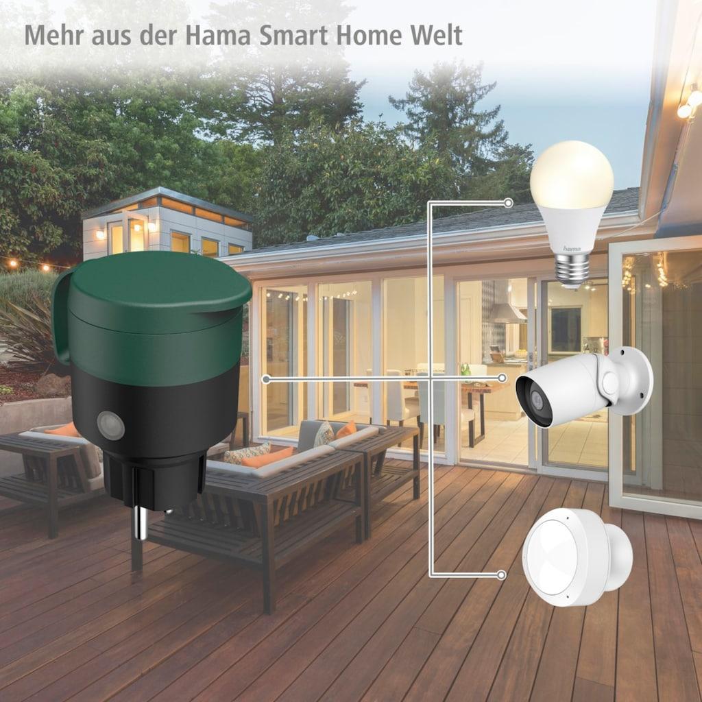 Hama Smarte Steckdose »Outdoor Gartensteckdose, IP44«, für außen, App- u. Sprachsteuerung, ohne Hub
