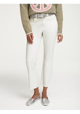 Push-up Jeans Aleria mit kleinen Fransen kaufen