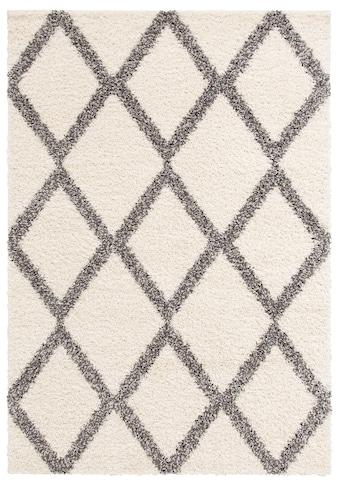 my home Hochflor-Teppich »Linz«, rechteckig, 31 mm Höhe, dichter Flor, Rauten Design, Wohnzimmer kaufen