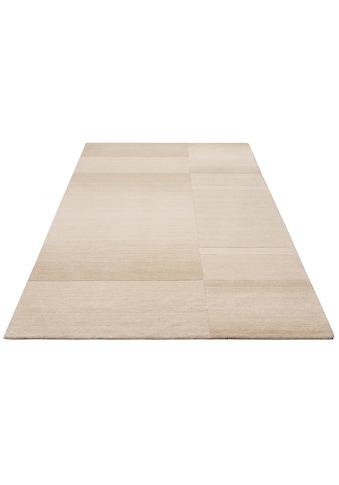 Theko Exklusiv Wollteppich »Jorun«, rechteckig, 14 mm Höhe, reine Wolle, von Hand... kaufen