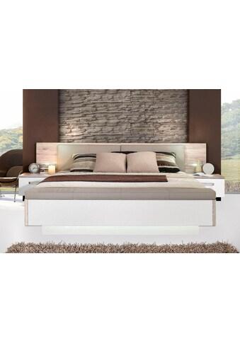 FORTE Bettanlage »Rondino,«, mit Polsterkopfteil und LED-Beleuchtung, wahlweise mit oder ohne Bettbank kaufen