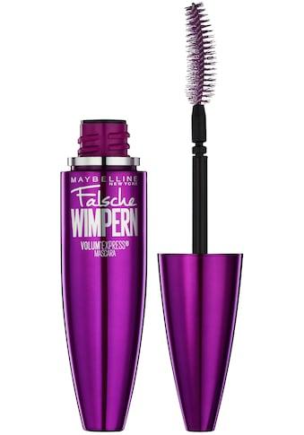 MAYBELLINE NEW YORK Mascara »Volum' Express Falsche Wimpern«, Patentierte Löffelbürste kaufen