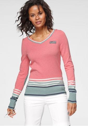 KangaROOS V-Ausschnitt-Pullover, im tollen Streifen-Farb-Mix kaufen