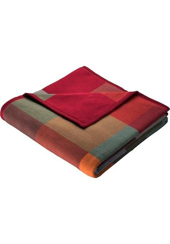 BIEDERLACK Wohndecke »Baumwolldecke Grey-Woven«, mit Karomuster kaufen