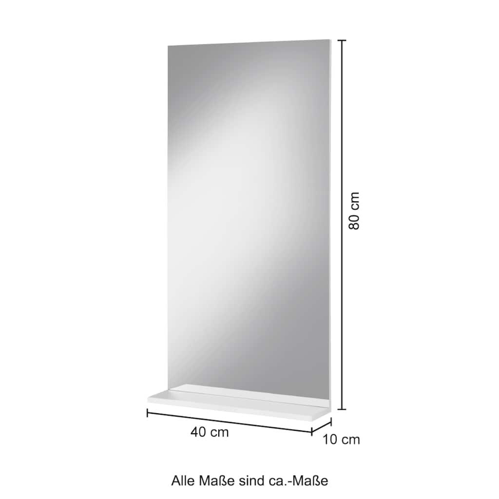 PHOENIX MÖBEL Badspiegel »Luzern«, zur Wandmontage mit kleiner Ablage
