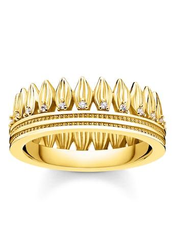 THOMAS SABO Fingerring »Krone Blätter gold, TR2282-414-14-52, TR2282-414-14-54,... kaufen