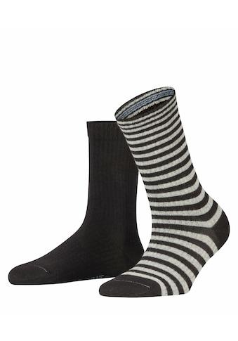 Esprit Socken »Sporty Stripe 2-Pack«, (2 Paar), aus Biobaumwolle kaufen