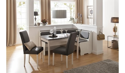 Home Affaire Eckbankgruppe »Spree«, 4   Teiliges Set Bestehend Aus Eckbank,  Tisch