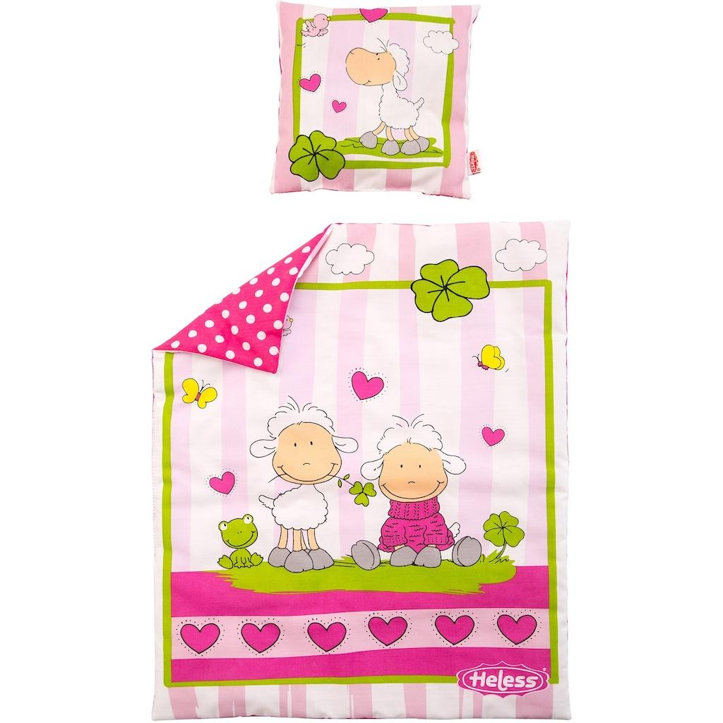 Heless Puppen Bettwäsche »Puppenbettdecke mit Kissen«