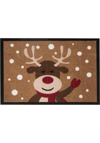 HANSE Home Fußmatte »Reindeer«, rechteckig, 7 mm Höhe, Fussabstreifer, Fussabtreter, Schmutzfangläufer, Schmutzfangmatte, Schmutzfangteppich, Schmutzmatte, Türmatte, Türvorleger, In- und Outdoor geeignet kaufen