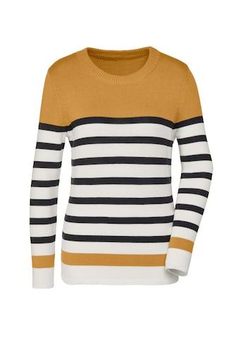 Casual Looks Streifenpullover »Pima-Baumwoll-Pullover« kaufen