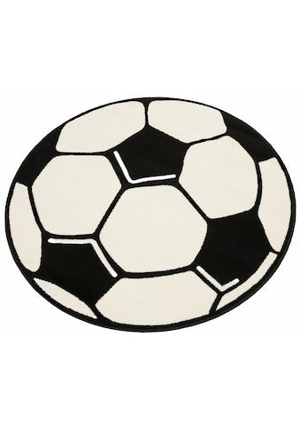 Kinderteppich, »Fußball«, HANSE Home, rund, Höhe 10 mm, maschinell gewebt kaufen