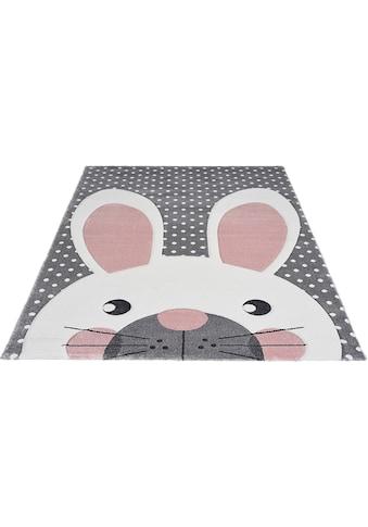 merinos Kinderteppich »Pastel Kids«, rechteckig, 13 mm Höhe, Hasen Motiv,... kaufen