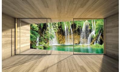 Consalnet Vliestapete »Wasserfall Terrasse«, verschiedene Motivgrößen, für das Büro oder Wohnzimmer kaufen