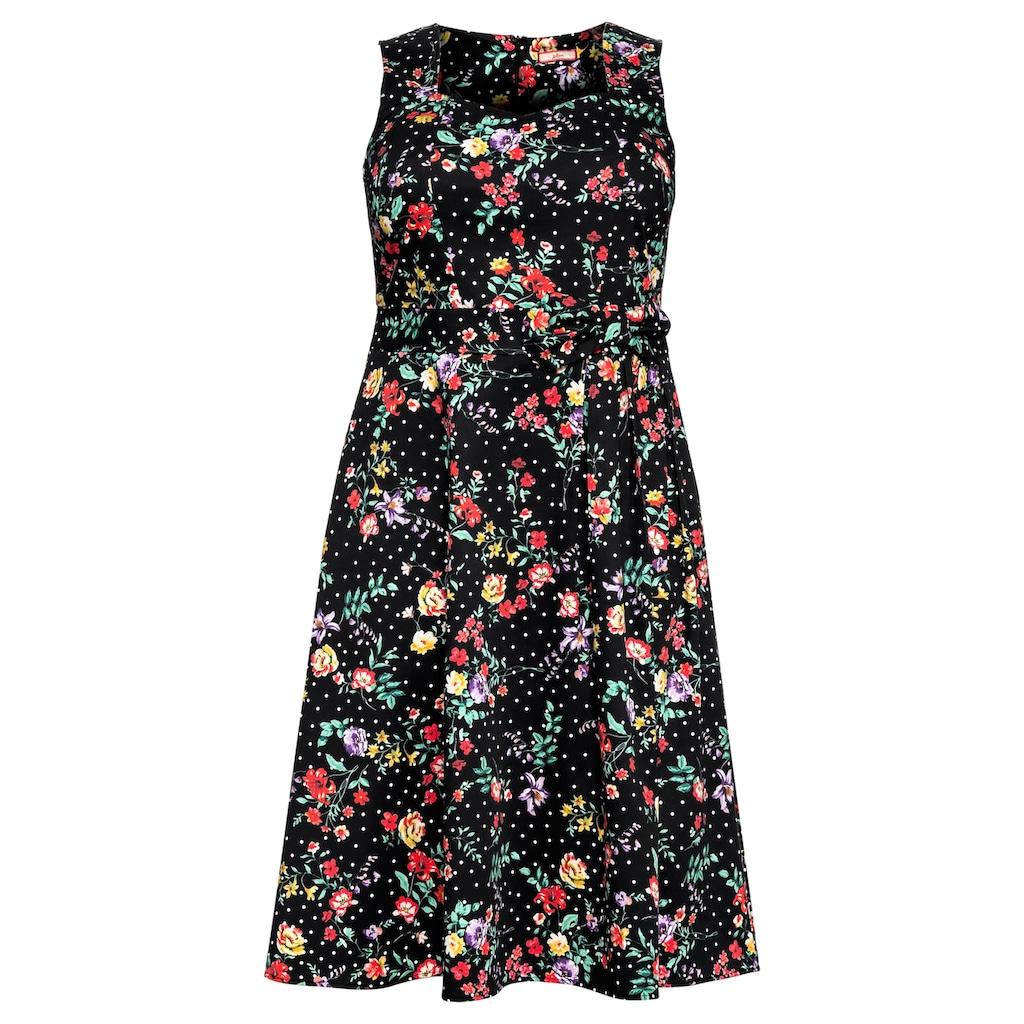 sheego by Joe Browns Sommerkleid, aus Baumwollsatin mit Blumendruck