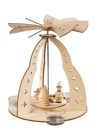 SAICO Original Tischpyramide Winterkind für 3 Teelichte kaufen