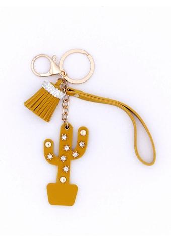J.Jayz Schlüsselanhänger »mit Quasten- und Kaktusanhänger«, mit Glassteinen kaufen