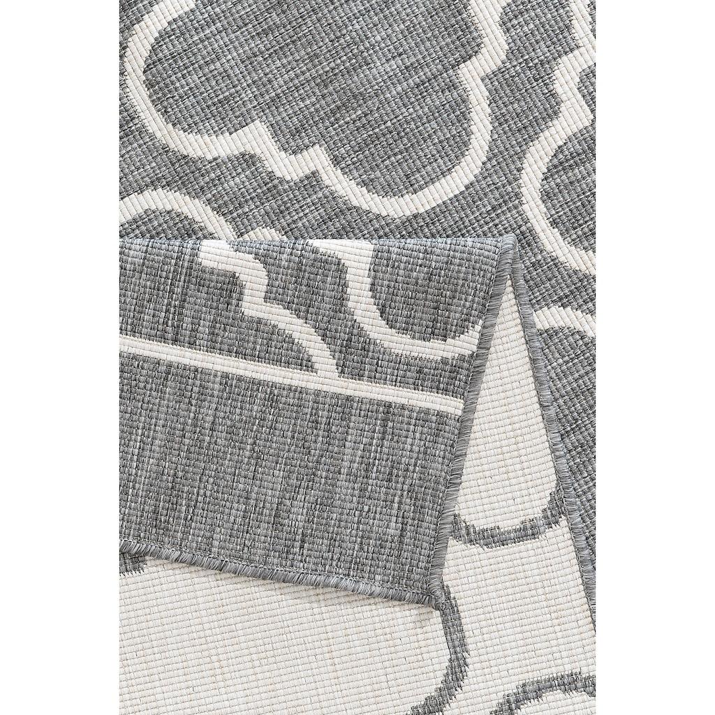 my home Teppich »Laila«, rechteckig, 5 mm Höhe, In- und Outdoor geeignet, Wendeteppich, Wohnzimmer