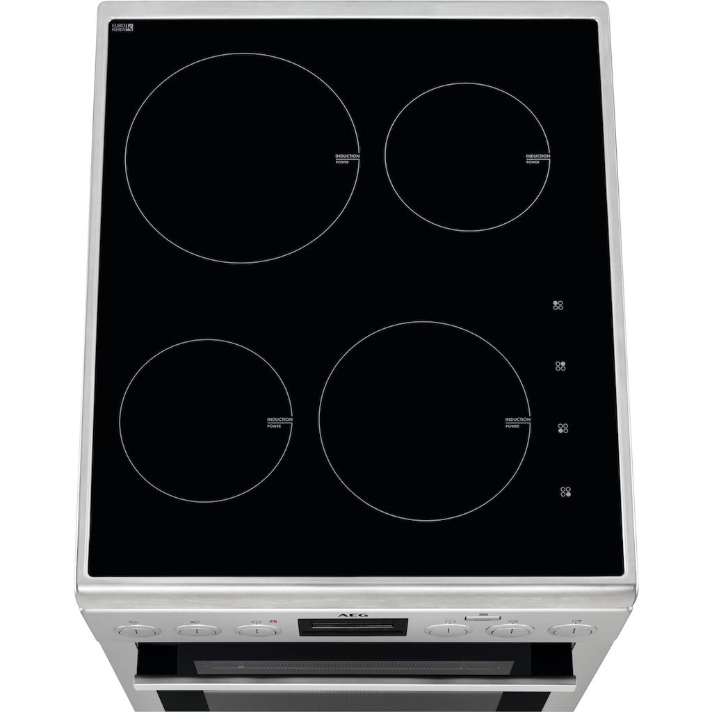 AEG Induktions-Standherd »CIB56400BX«, SteamBake – Feuchtigkeitszugabe