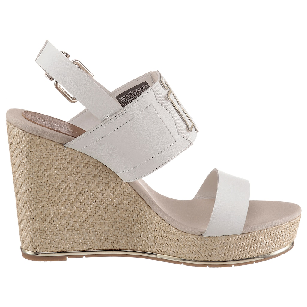 TOMMY HILFIGER High-Heel-Sandalette »TH ELASTIC HIGH WEDGE SANDAL«, mit Elastikeinsatz