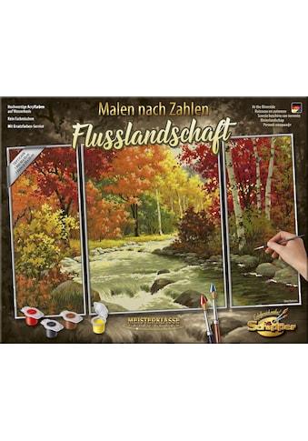 """Schipper Malen nach Zahlen """"Meisterklasse Triptychon, Flusslandschaft"""" kaufen"""