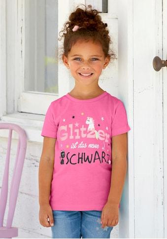Arizona T-Shirt »Glitzer ist das neue Schwarz«, mit Glitzerdruck kaufen