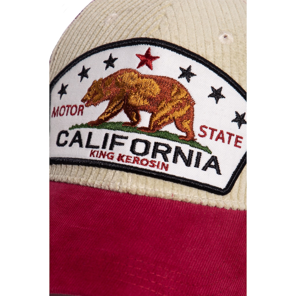 KingKerosin Trucker Cap »California Bear«, mit Cord