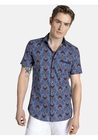 SHIRTMASTER Kurzarmhemd »peacock«, mit Ethnodruck kaufen