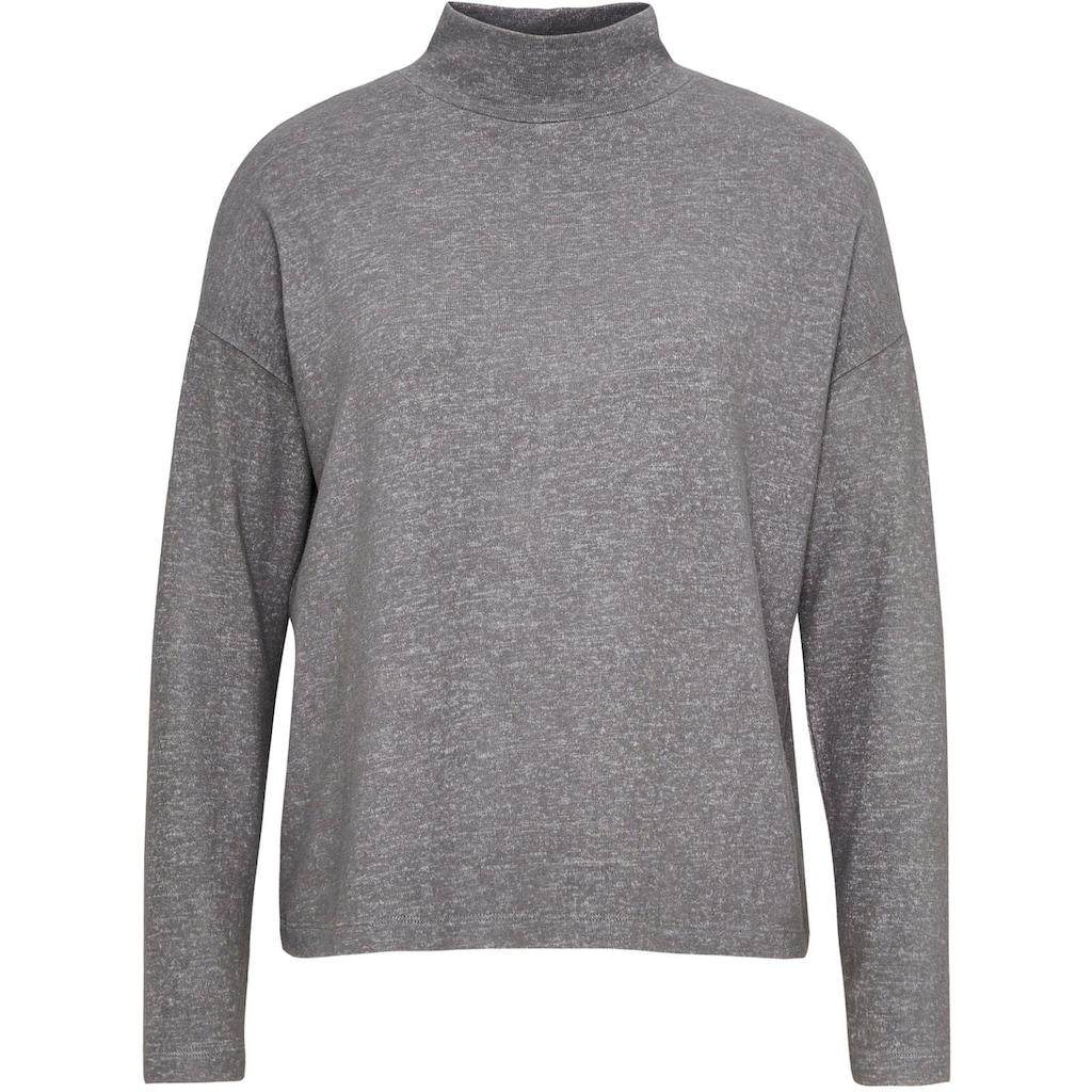 OPUS Langarmshirt »Sokole«, mit Raffungen am Rücken