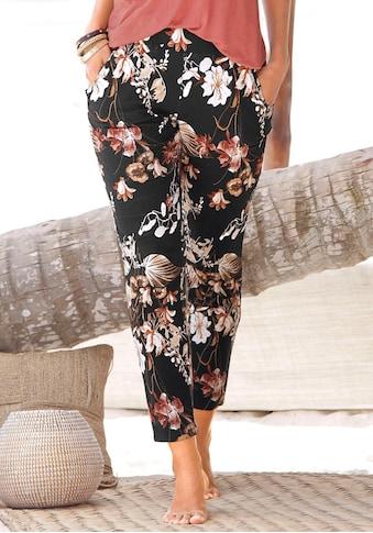 LASCANA Jerseyhose, mit Blumenprint kaufen