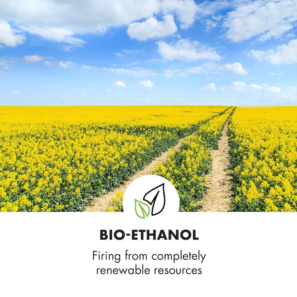 Klarstein Phantasma Cube Ethanol-Kamin rauchfrei Edelstahl