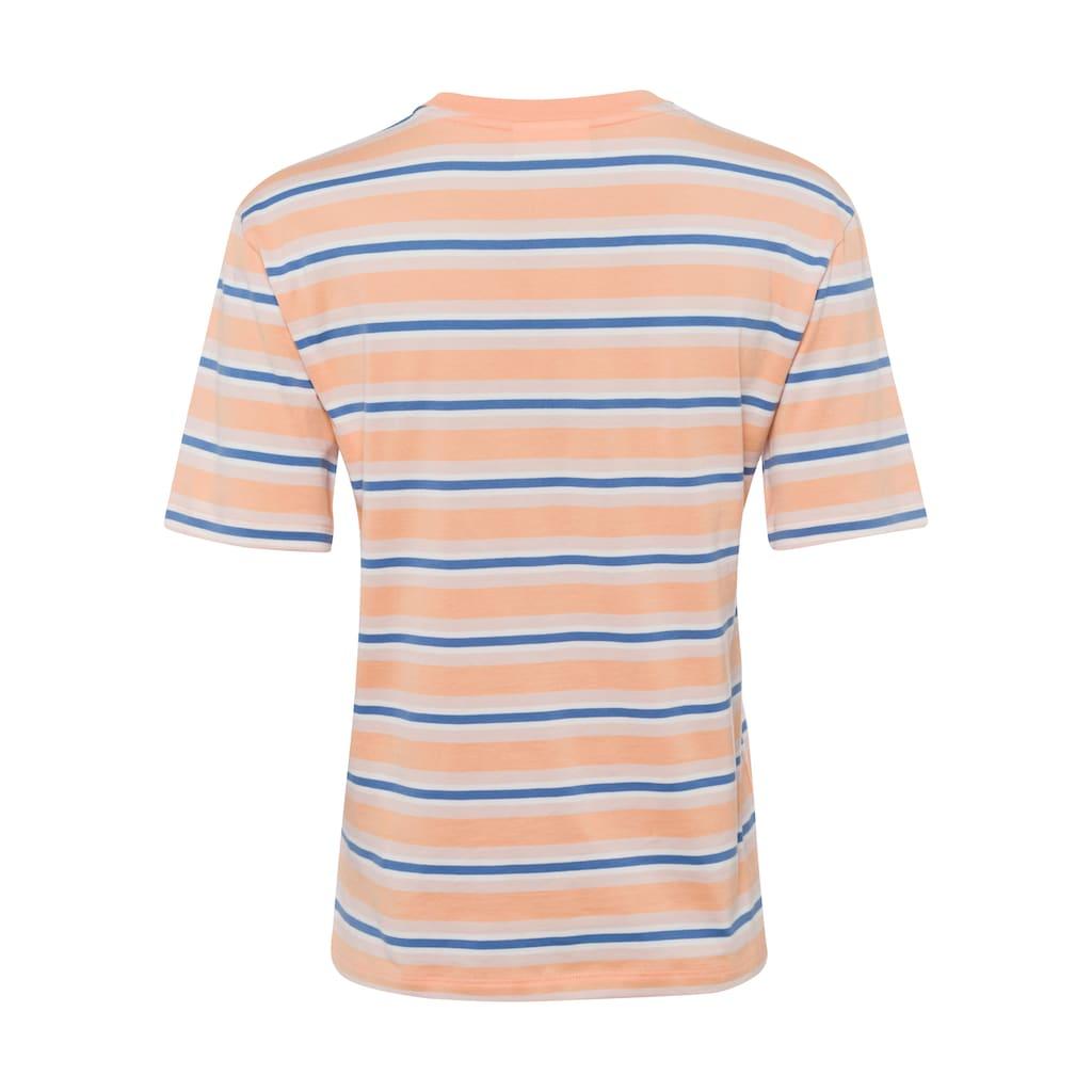 Lacoste T-Shirt, mit Streifenmuster im Retro-Look