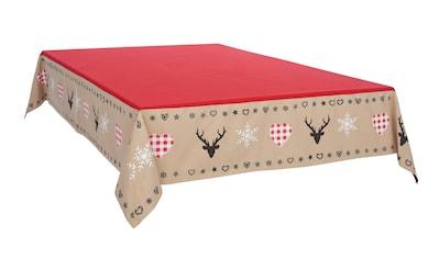 my home Tischdecke »Xaver«, Weihnachtsdeko kaufen