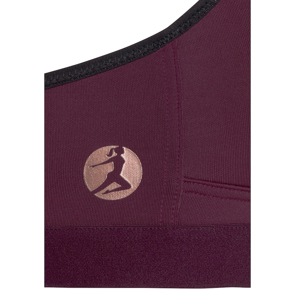 LASCANA ACTIVE Sport-BH »Watercolor«, ohne Bügel geeignet für Sportarten mit starker Belastung