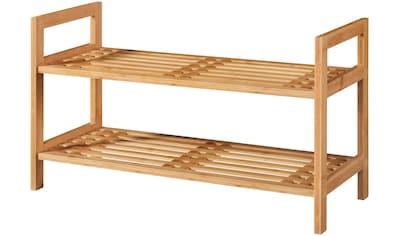 WELLTIME Schuhregal »Bambus«, 70 cm breit, 2 Ablagen, Stapelregal kaufen