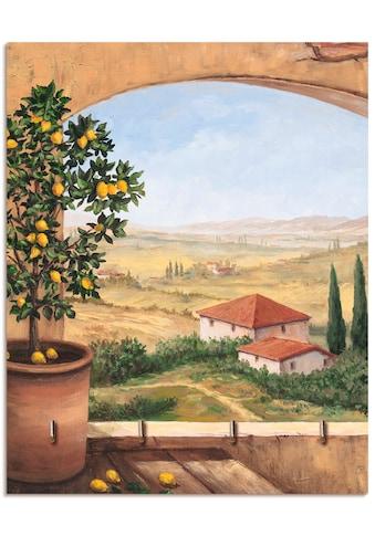 Artland Schlüsselbrett »Fenster in der Toskana«, aus Holz mit 4 Schlüsselhaken –... kaufen