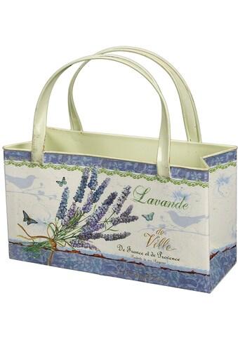 Ambiente Haus Übertopf »Lavendel - Tasche aus Metall« kaufen