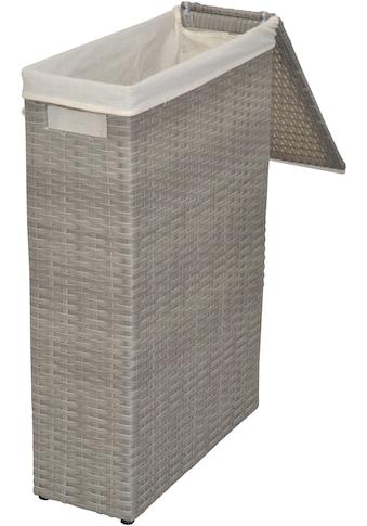 Wäschekorb, aus Polyrattan, Breite ca. 17 cm, Handgefochten kaufen