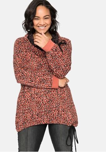 sheego by Joe Browns Sweatshirt, im Mustermix, mit Kontrastdetails kaufen