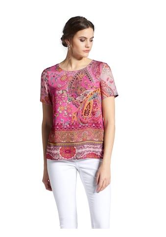 Peter Hahn Shirtbluse »mit Rundhals-Ausschnitt«, und Schlitz kaufen