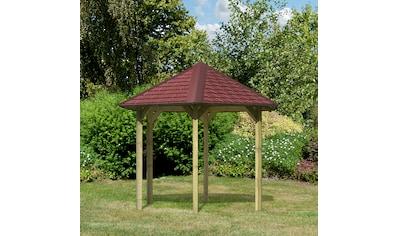 Karibu Holzpavillon »Madrid«, (Set), BxT: 349x302 cm, inkl. Dachschindeln und... kaufen