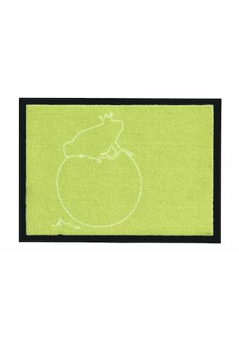 grimmliis Fußmatte »Märchen 2«, rechteckig, 2 mm Höhe, Fussabstreifer, Fussabtreter, Schmutzfangläufer, Schmutzfangmatte, Schmutzfangteppich, Schmutzmatte, Türmatte, Türvorleger, Motiv Froschkönig, waschbar kaufen