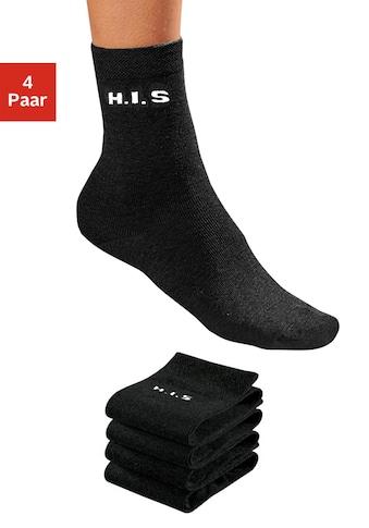 H.I.S Socken, (4 Paar), ohne einschneidendes Bündchen kaufen