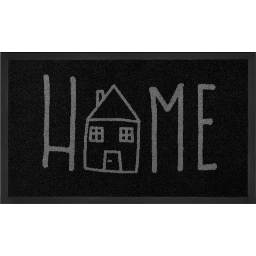 HANSE Home Fußmatte »Easy Home«, rechteckig, 5 mm Höhe, Schmutzfangmatte, mit Spruch, In- und Outdoor geeignet, waschbar