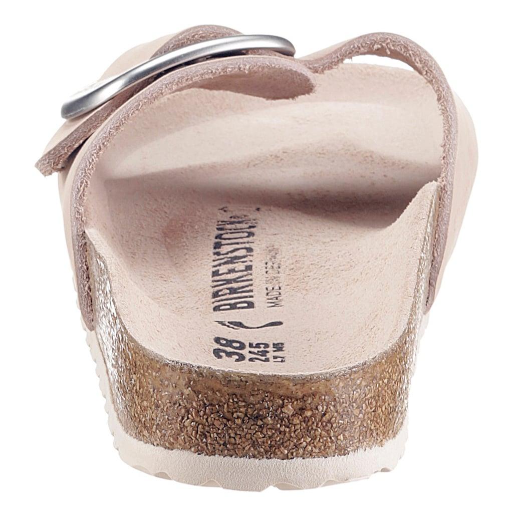 Birkenstock Pantolette »Madrid«, aus Nubukleder, schmale Schuhweite