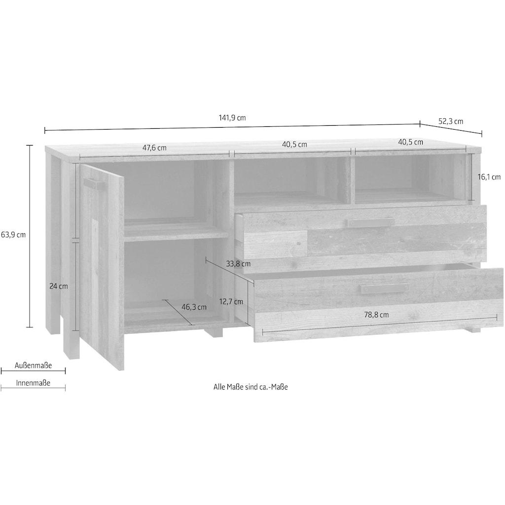 FORTE Lowboard »CLIF«, Breite 141 cm
