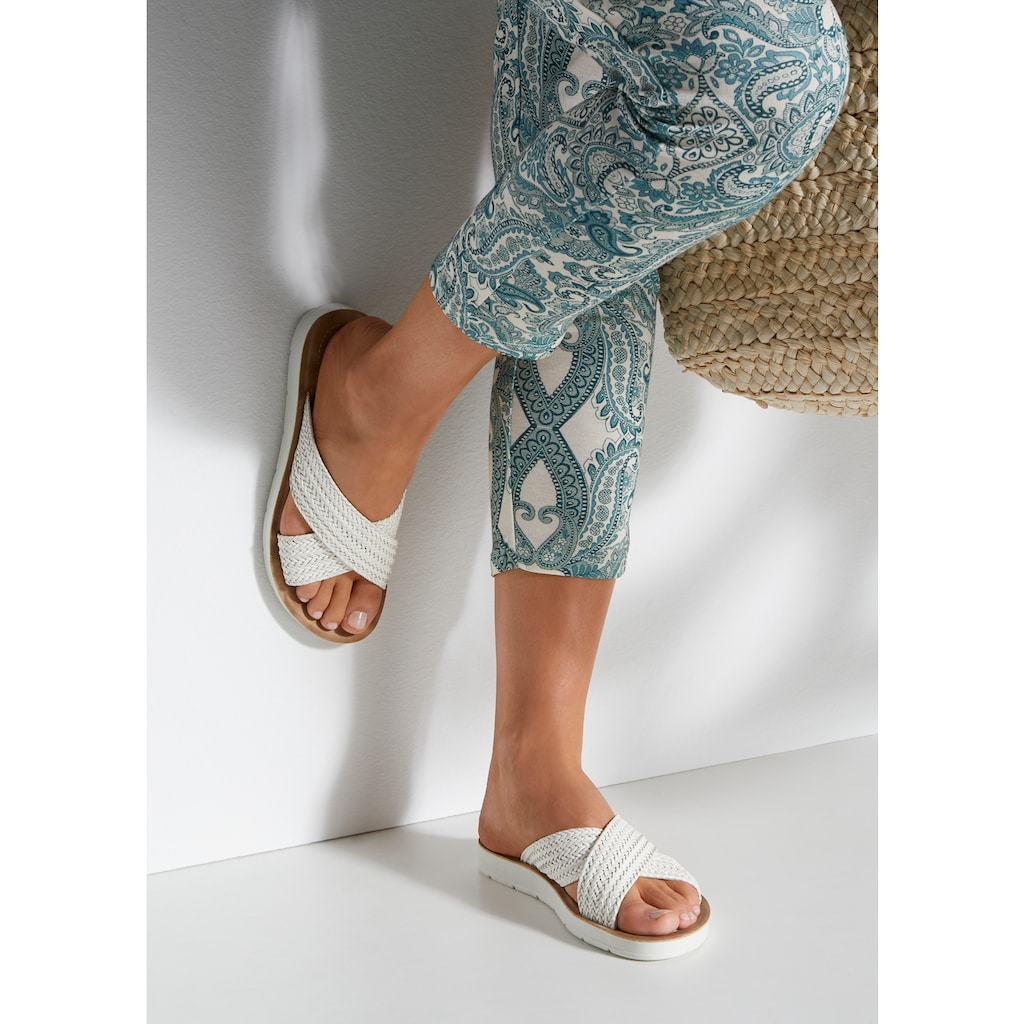 LASCANA Pantolette, mit Kreuzbandage