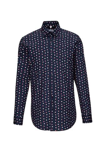 seidensticker Businesshemd »Regular«, Regular Langarm Covered-Button-Down-Kragen Floral kaufen