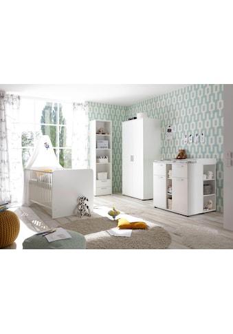 Babyzimmer-Komplettset »Bibo«, (Set, 3 St.), Bett + Wickelkommode + 2-trg. Schrank kaufen