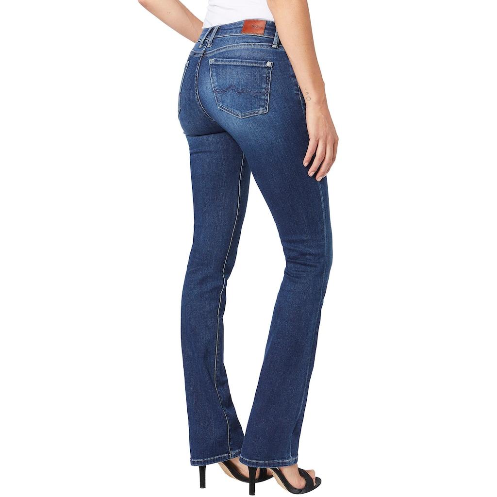 Pepe Jeans Bootcut-Jeans »PICCADILLY«, im 5-Pocket-Stil und Hintertaschen mit Absteppung